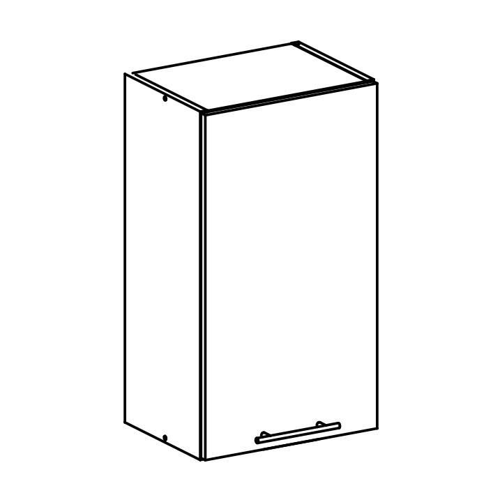 Tempo Kondela Horní skříňka, bílá, FABIANA W - 40