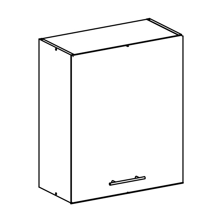 Tempo Kondela Horní skříňka, bílá, FABIANA W - 60