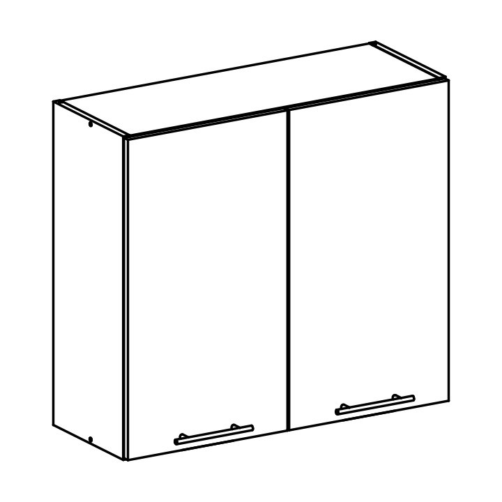Tempo Kondela Horní skříňka, bílá, FABIANA W - 80