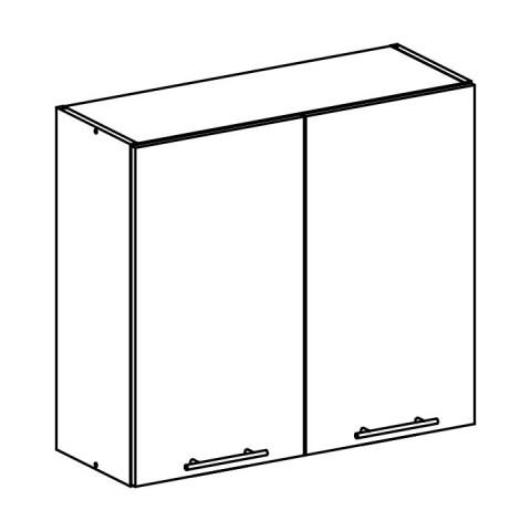Horní skříňka, bílá, FABIANA W - 80