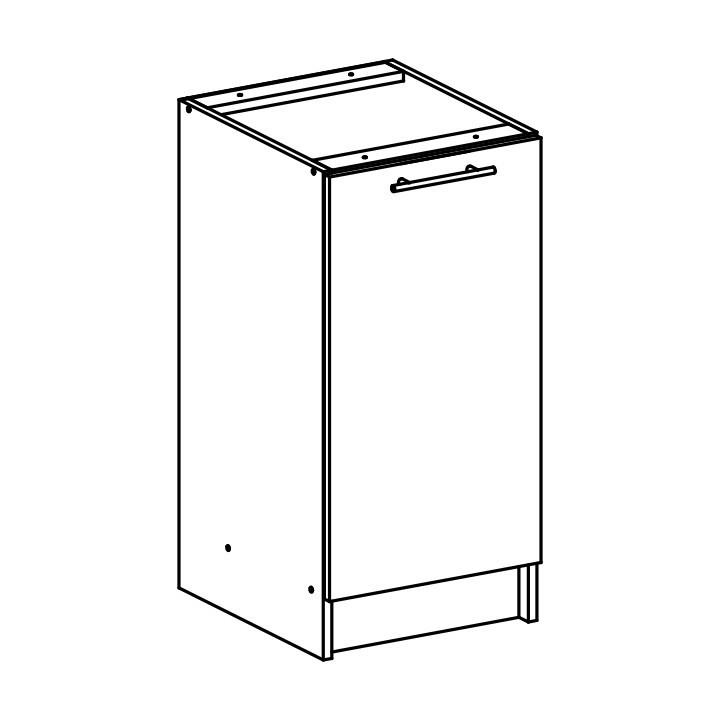 Dolní skříňka, dub sonoma / bílá, FABIANA S - 40