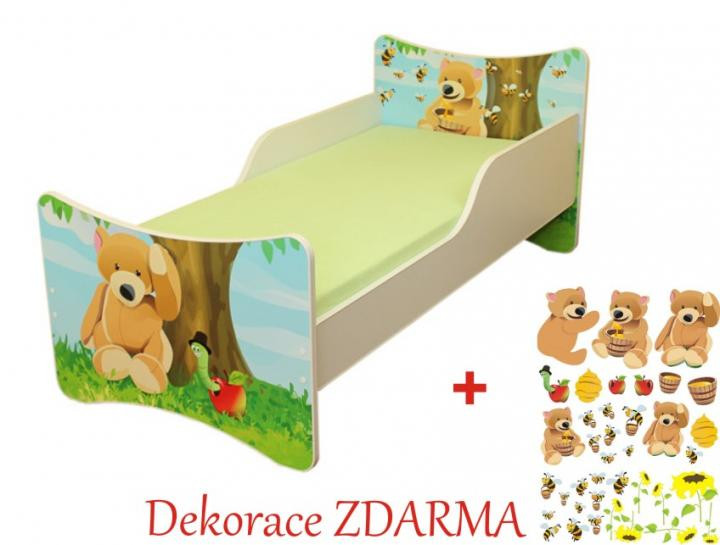 Forclaire Dětská postel Medvídek postel s úložným prostorem 140x70cm