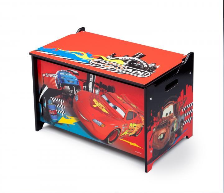 Dřevěná truhla na hračky Cars