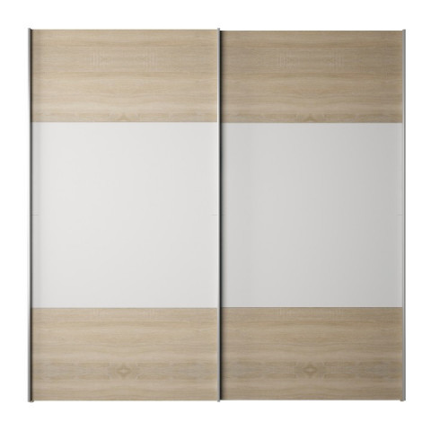 Skříň s posuvnými dveřmi GABRIELA - dub sonoma / bílá