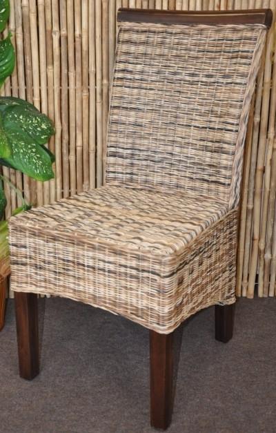 Axin Trading Jídelní židle Larissa wicker mix - mahagonové dřevo