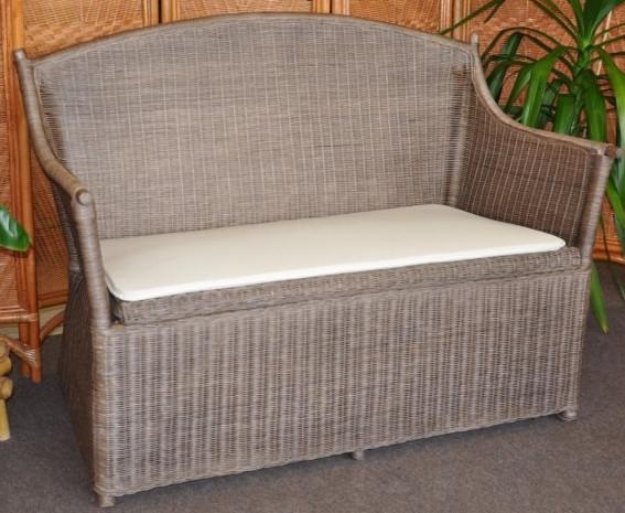 Axin Trading Ratanová lavice s úložným prostorem, hnědá