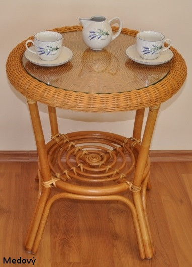 Axin Trading Ratanový stolek Fabion Hnědý