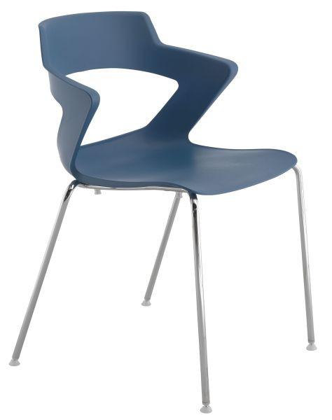 Antares Konferenční židle 2160 PC Aoki - nečalouněná Šedá RAL 7011