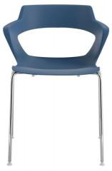 Konferenční židle 2160 PC Aoki - nečalouněná - Modrá RAL 5009