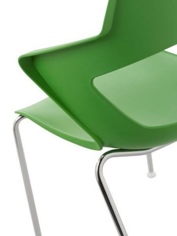 Konferenční židle 2160 PC Aoki - nečalouněná - Zelená PANTONE 361C