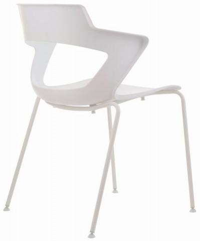 Konferenční židle 2160 PC Aoki - nečalouněná - Bílá