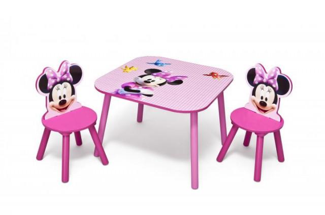 Dětský stůl s židlemi myška Minnie II