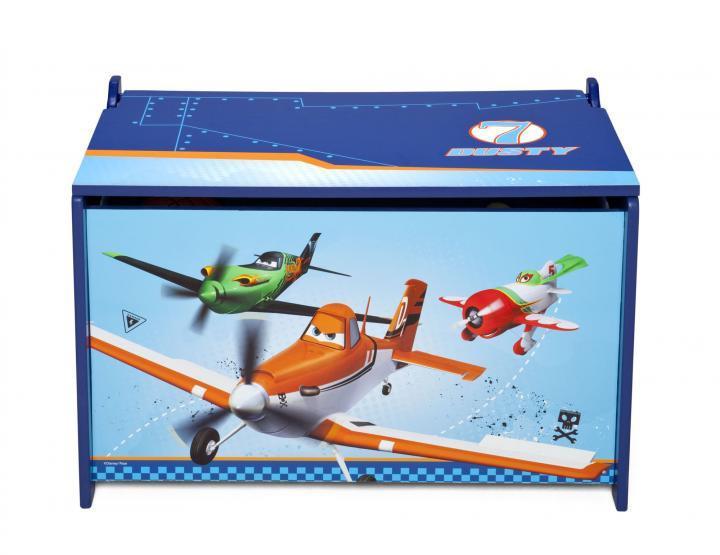 Forclaire Dětská dřevěná truhla Letadla