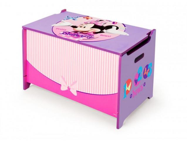 Dětská dřevěná truhla Minnie Mouse