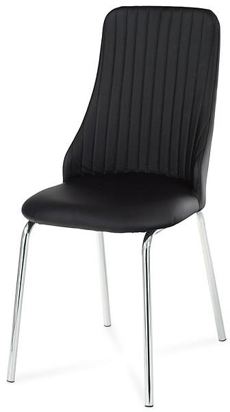 Autronic Jídelní židle AC-1313 WT - Bílá koženka