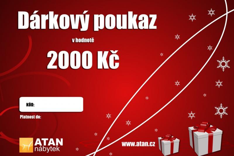 ATAN Vánoční dárkový poukaz v hodnotě 2000 Kč Elektronický 0e7a5f5eef