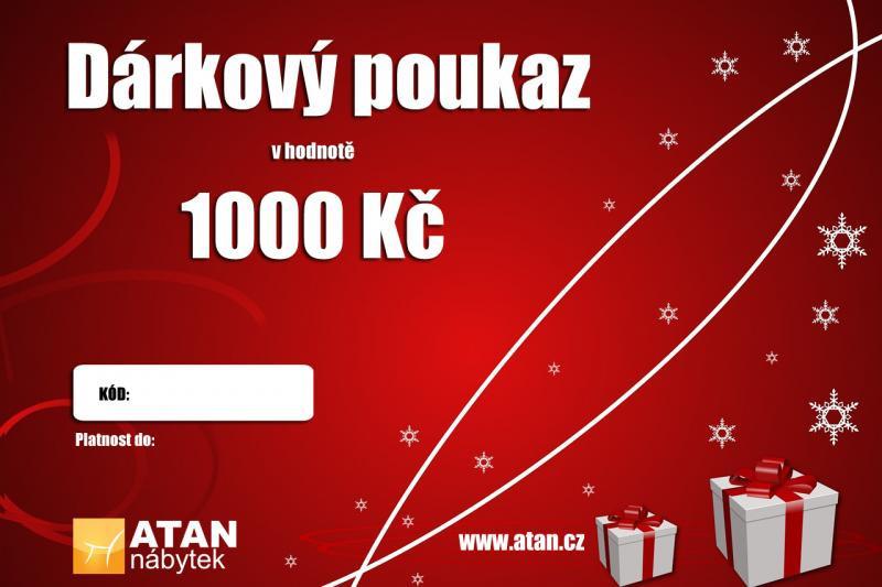 Vánoční dárkový poukaz v hodnotě 1000 Kč