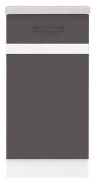 Kuchyňská skříňka Junona Line D1D/40/82-P - Bílý lesk/šedý wolfram