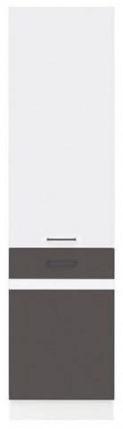 Kuchyňská skříňka Junona Line D2D/50/195-P - Bílý lesk/šedý wolfram