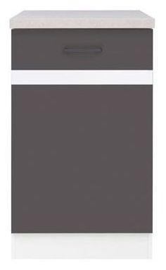 Kuchyňská skříňka Junona Line D1D/50/82-L - Bílý lesk/šedý wolfram