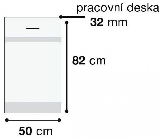 Kuchyňská skříňka Junona Line D1D/50/82-L