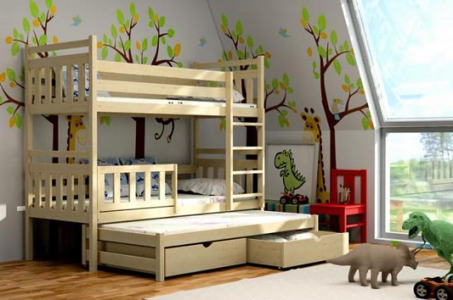 Patrová postel s výsuvnou přistýlkou PPV 004 KOMPLET