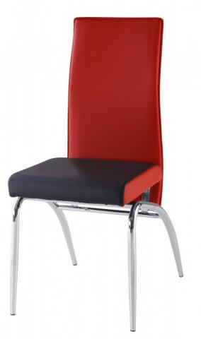 Jídelní židle F 106-2 červeno/černá