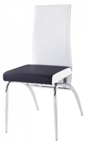 Jídelní židle F-106-2 bílo/černá