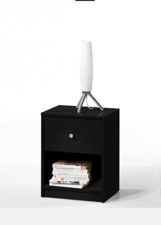 Noční stolek May - černý