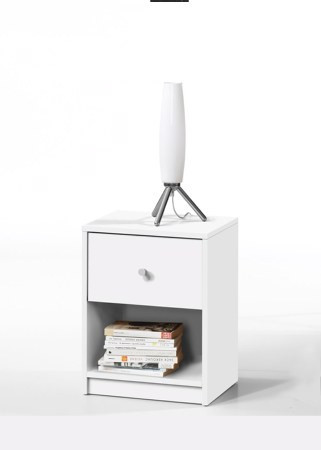 Noční stolek May - bílý