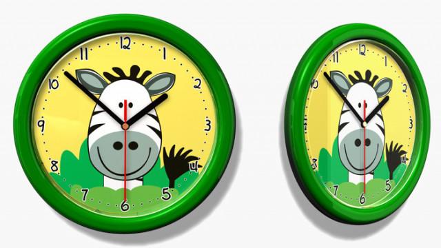 Dětské hodiny č. 33 Zebra