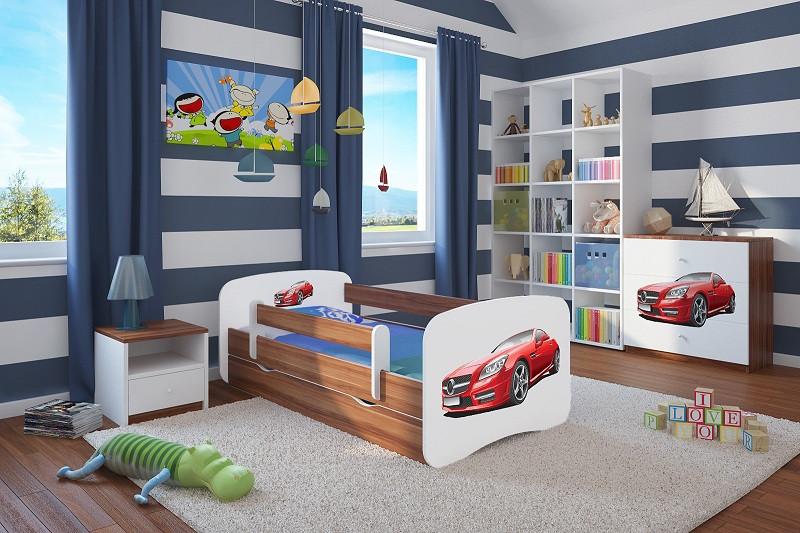 Forclaire Dětská postel se zábranou Ourbaby - Sporťák postel 140 x 70 cm