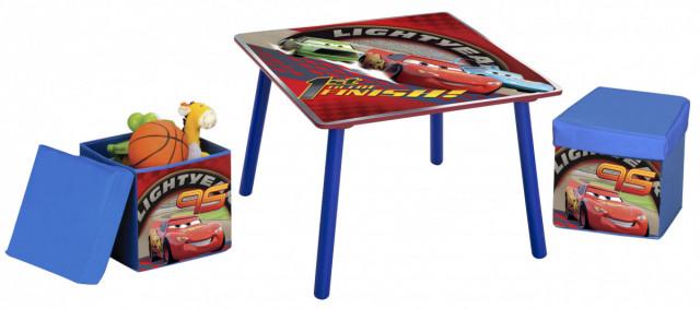 Dětský stůl s taburety Cars