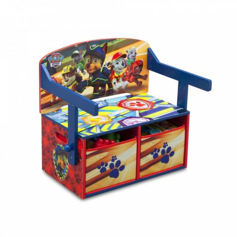 Dětská lavice s úložným prostorem Tlapková patrola