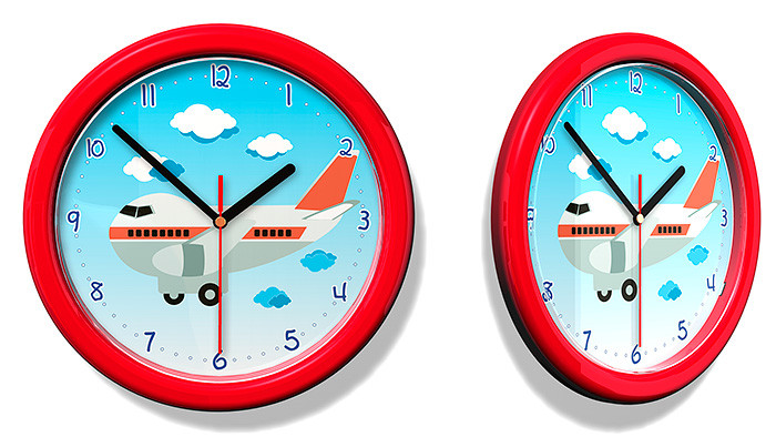Forclaire Dětské hodiny č. 55 Letadlo