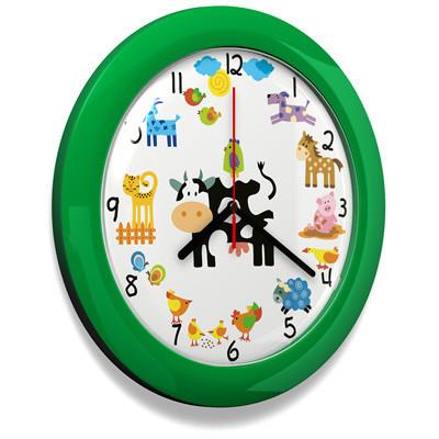 Dětské hodiny Farma 66 green