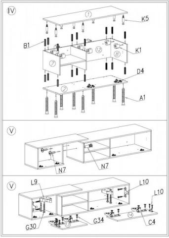 Televizní stolek Sigma 1D- dub sonoma+bílá/dub sonoma+bílá č.4
