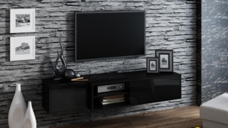 Televizní stolek Sigma 1E- černá/černá