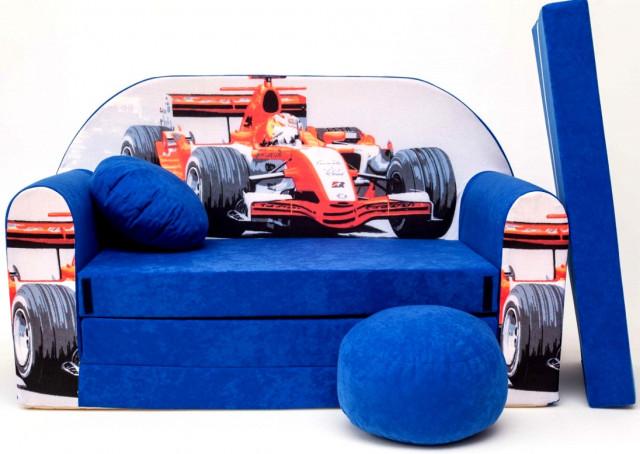 Dětská pohovka Formule Modrá