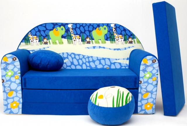 Dětská pohovka Blue Jungle 2