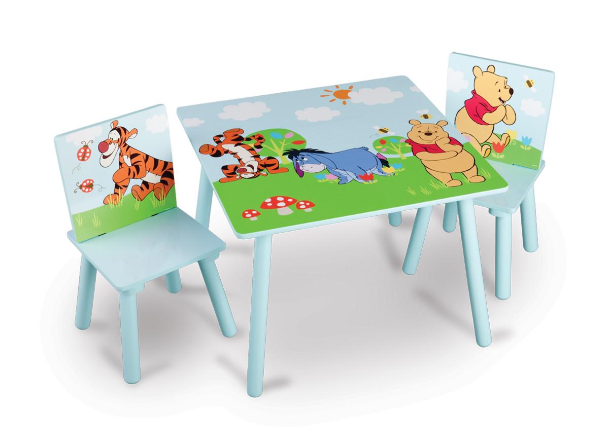 Forclaire Dětský stůl s židlemi Medvídek Pú