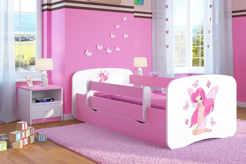 Forclaire Dětská postel se zábranou Ourbaby - Víla Leonka postel 140 x 70 cm