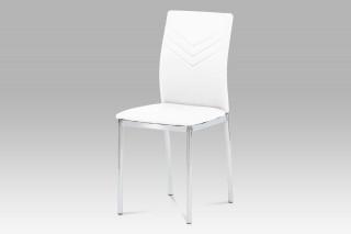 Jídelní židle AC-1280 WT - koženka bílá