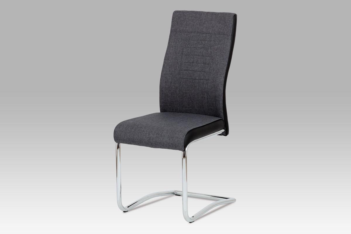 Autronic Jídelní židle DCL-428 GREY2 - šedá látka + koženka
