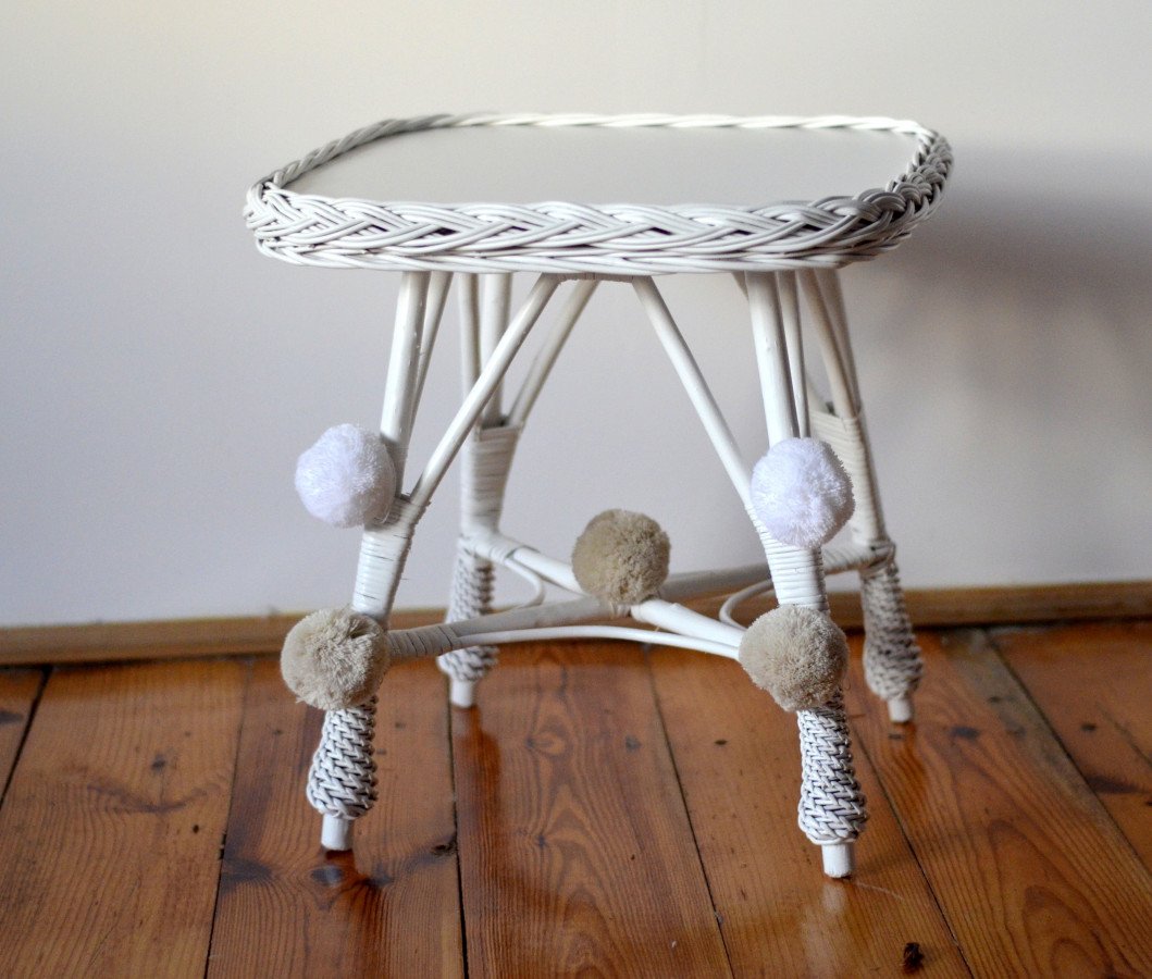 Forclaire Proutěný stolek hranatý přírodní