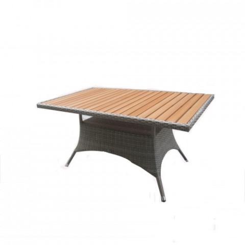 Zahradní jídelní stůl RIMINI 150x90 cm - šedohnědý