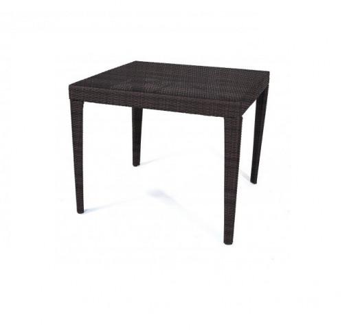 Zahradní jídelní stůl Dallas 90x90 cm - hnědý