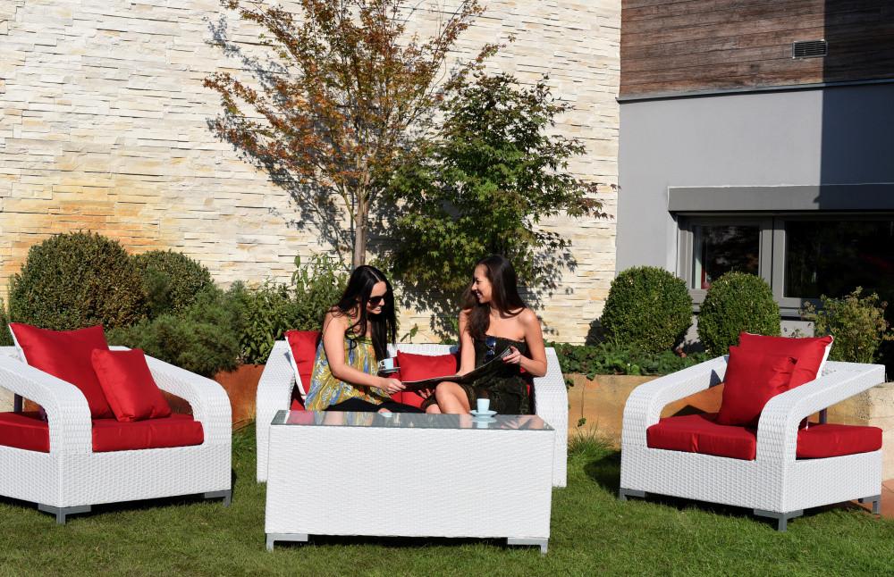 Dimenza Dimenza zahradní sedací souprava BORDEAUX - bílá