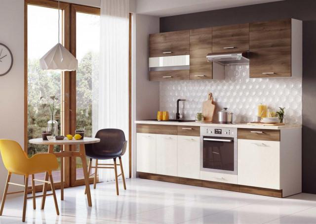 Kuchyňská linka Mia Akacie cynamon/vanilka - ilustrační fotografie
