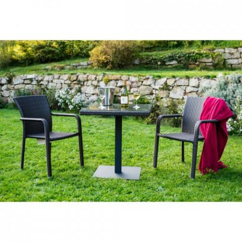 Zahradní designový stůl BARCELONA - černý